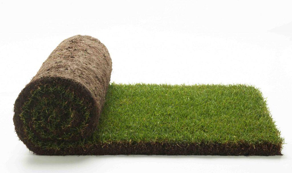 Срезка рулонного газона