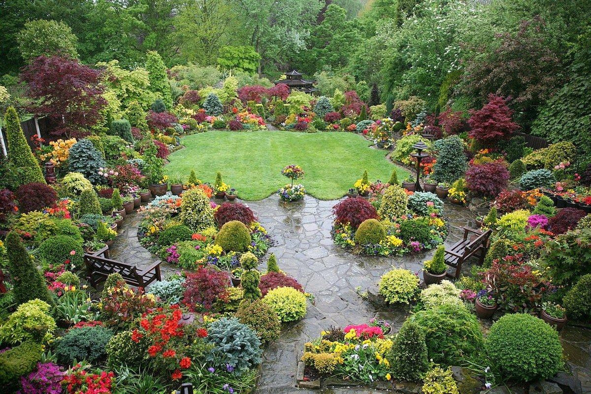 Сад в викторианском стиле